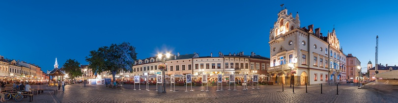 Panorama sferyczna rynku w Rzeszowie