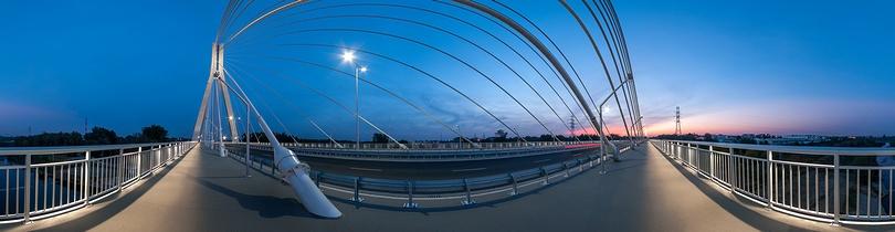 Most im. Tadeusza Mazowieckiego w Rzeszowie, panorama sferyczna